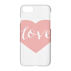 Love Valentines Heart Pink Apple Iphone 7 Hardshell Case