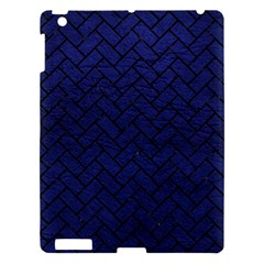 Brick2 Black Marble & Blue Leather (r) Apple Ipad 3/4 Hardshell Case by trendistuff