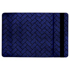 Brick2 Black Marble & Blue Leather (r) Apple Ipad Air 2 Flip Case by trendistuff