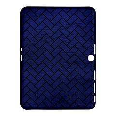 Brick2 Black Marble & Blue Leather (r) Samsung Galaxy Tab 4 (10 1 ) Hardshell Case  by trendistuff