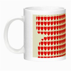 Hearts Butterfly Red Valentine Love Night Luminous Mugs