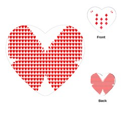 Hearts Butterfly Red Valentine Love Playing Cards (heart)