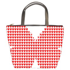 Hearts Butterfly Red Valentine Love Bucket Bags by Alisyart