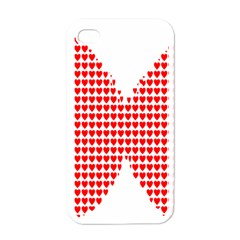 Hearts Butterfly Red Valentine Love Apple Iphone 4 Case (white)