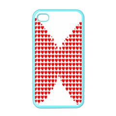Hearts Butterfly Red Valentine Love Apple Iphone 4 Case (color) by Alisyart