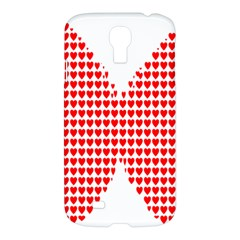 Hearts Butterfly Red Valentine Love Samsung Galaxy S4 I9500/i9505 Hardshell Case by Alisyart
