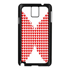 Hearts Butterfly Red Valentine Love Samsung Galaxy Note 3 N9005 Case (black) by Alisyart