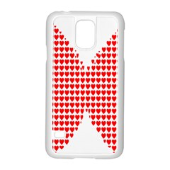 Hearts Butterfly Red Valentine Love Samsung Galaxy S5 Case (white)