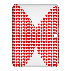 Hearts Butterfly Red Valentine Love Samsung Galaxy Tab 4 (10 1 ) Hardshell Case  by Alisyart