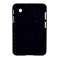 Brick2 Black Marble & Blue Leather Samsung Galaxy Tab 2 (7 ) P3100 Hardshell Case  by trendistuff