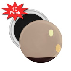 Minimalist Circle Sun Gray Brown 2 25  Magnets (10 Pack)