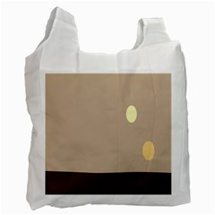 Minimalist Circle Sun Gray Brown Recycle Bag (one Side)
