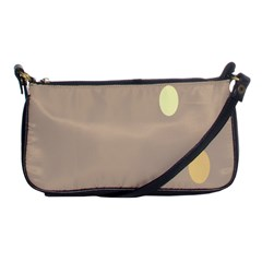 Minimalist Circle Sun Gray Brown Shoulder Clutch Bags