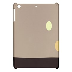 Minimalist Circle Sun Gray Brown Apple Ipad Mini Hardshell Case by Alisyart