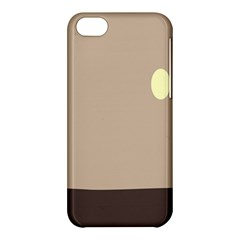 Minimalist Circle Sun Gray Brown Apple Iphone 5c Hardshell Case by Alisyart