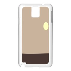 Minimalist Circle Sun Gray Brown Samsung Galaxy Note 3 N9005 Case (white) by Alisyart