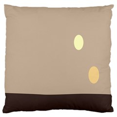 Minimalist Circle Sun Gray Brown Large Flano Cushion Case (two Sides) by Alisyart
