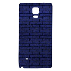 Brick1 Black Marble & Blue Leather (r) Samsung Note 4 Hardshell Back Case by trendistuff
