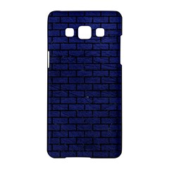 Brick1 Black Marble & Blue Leather (r) Samsung Galaxy A5 Hardshell Case  by trendistuff