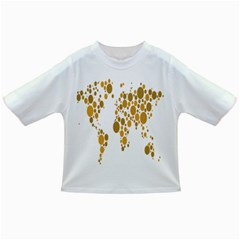 Map Dotted Gold Circle Infant/toddler T-shirts by Alisyart