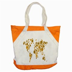 Map Dotted Gold Circle Accent Tote Bag by Alisyart