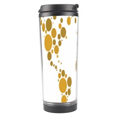 Map Dotted Gold Circle Travel Tumbler by Alisyart