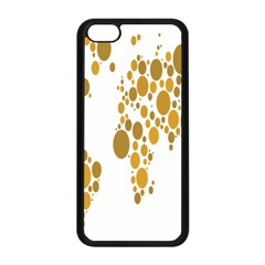 Map Dotted Gold Circle Apple Iphone 5c Seamless Case (black) by Alisyart