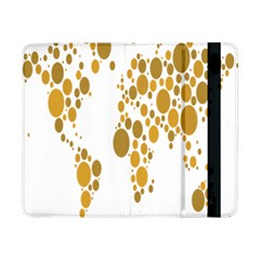 Map Dotted Gold Circle Samsung Galaxy Tab Pro 8 4  Flip Case by Alisyart