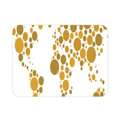 Map Dotted Gold Circle Double Sided Flano Blanket (mini)  by Alisyart