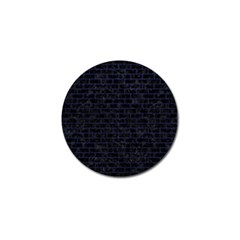 Brick1 Black Marble & Blue Leather Golf Ball Marker by trendistuff