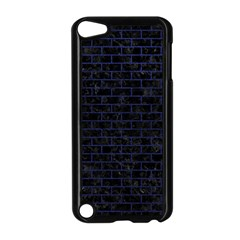 Brick1 Black Marble & Blue Leather Apple Ipod Touch 5 Case (black) by trendistuff