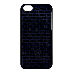 Brick1 Black Marble & Blue Leather Apple Iphone 5c Hardshell Case by trendistuff