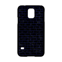 Brick1 Black Marble & Blue Leather Samsung Galaxy S5 Hardshell Case  by trendistuff