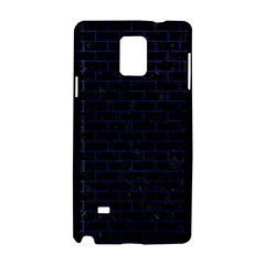 Brick1 Black Marble & Blue Leather Samsung Galaxy Note 4 Hardshell Case by trendistuff