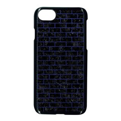 Brick1 Black Marble & Blue Leather Apple Iphone 7 Seamless Case (black) by trendistuff