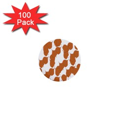 Machovka Autumn Leaves Brown 1  Mini Buttons (100 Pack)