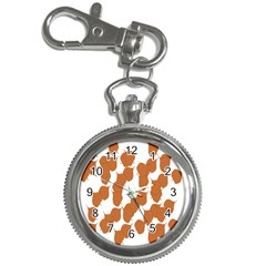 Machovka Autumn Leaves Brown Key Chain Watches by Alisyart