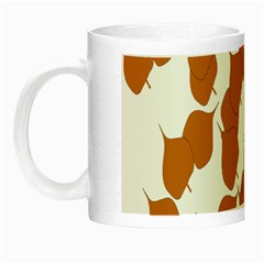 Machovka Autumn Leaves Brown Night Luminous Mugs