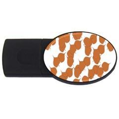 Machovka Autumn Leaves Brown Usb Flash Drive Oval (4 Gb) by Alisyart