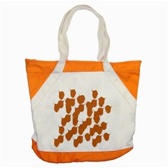 Machovka Autumn Leaves Brown Accent Tote Bag by Alisyart