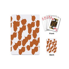 Machovka Autumn Leaves Brown Playing Cards (mini)  by Alisyart