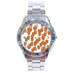 Machovka Autumn Leaves Brown Stainless Steel Analogue Watch by Alisyart