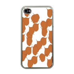 Machovka Autumn Leaves Brown Apple Iphone 4 Case (clear) by Alisyart