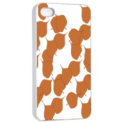 Machovka Autumn Leaves Brown Apple Iphone 4/4s Seamless Case (white) by Alisyart