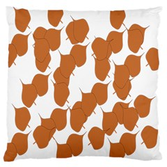 Machovka Autumn Leaves Brown Large Cushion Case (two Sides) by Alisyart