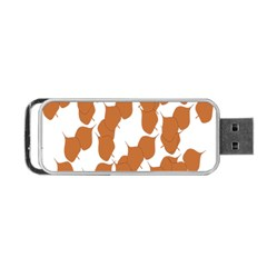 Machovka Autumn Leaves Brown Portable Usb Flash (one Side) by Alisyart