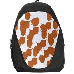 Machovka Autumn Leaves Brown Backpack Bag by Alisyart