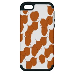 Machovka Autumn Leaves Brown Apple Iphone 5 Hardshell Case (pc+silicone) by Alisyart