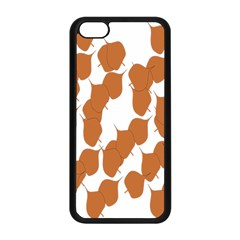 Machovka Autumn Leaves Brown Apple Iphone 5c Seamless Case (black) by Alisyart