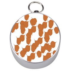 Machovka Autumn Leaves Brown Silver Compasses by Alisyart